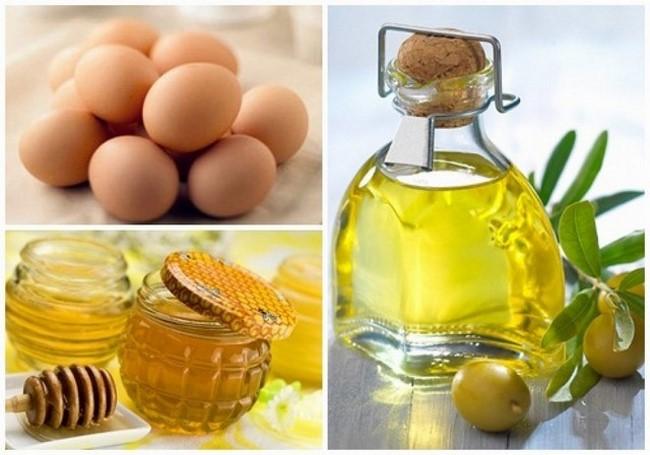 Trứng gà mật ong kết hợp với dầu oliu