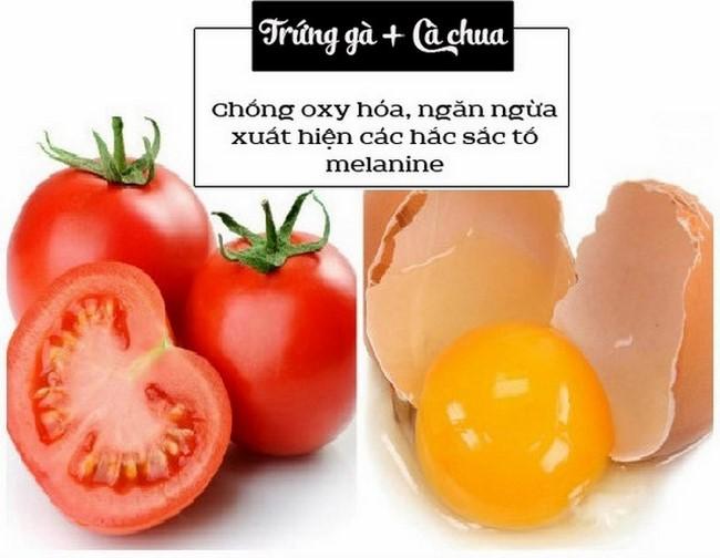 Trị thâm nám với lòng trắng trứng gà và cà chua hiệu quả