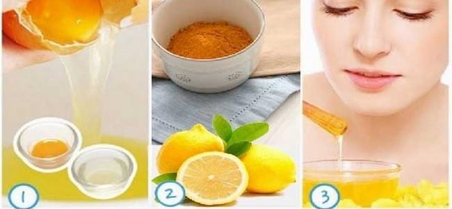 Mặt nạ trứng gà kết hợp với cam và nghệ