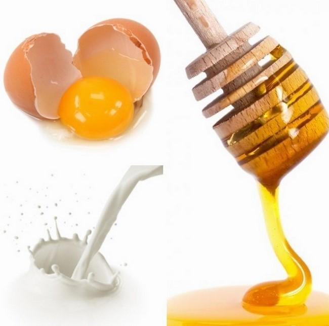 Trứng gà mật ong kết hợp với sữa tươi không đường