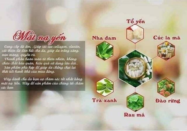 Mặt nạ yến Vychi được chiết xuất 100% thảo dược thiên nhiên