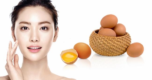 Trị mụn làm trắng da hiệu quả với mặt nạ trứng gà